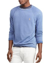 50a20a704cd6 Lyst - Polo Ralph Lauren Big   Tall Fleece Sweatshirt in Gray for Men