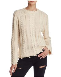 Honey Punch | Distressed Cable Sweater | Lyst