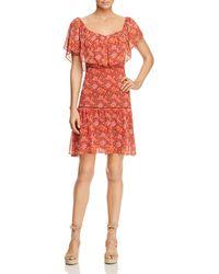 Rebecca Minkoff - Lynne Shoulder-detachable Ruffle Floral-print Dress - Lyst