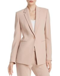 3390a3b0b57 Theory Lindrayia B Admiral Crepe Jacket in Natural - Lyst