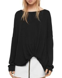 f70af48628720 Lyst - Velvet By Graham   Spencer Wilma Cold-shoulder Top in Black
