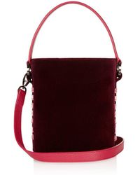 meli melo - Santina Mini Velvet Bucket Bag - Lyst