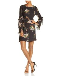 June & Hudson - Floral Bell-sleeve Dress - Lyst