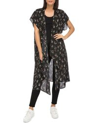 B Collection By Bobeau - Brianna Open-front Floral-print Kimono - Lyst