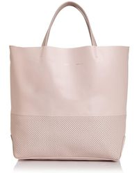 Alice.D - Medium Perforated Leather Tote - Lyst