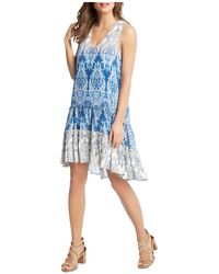 Karen Kane - Paisley Tiered Ruffle High/low Dress - Lyst