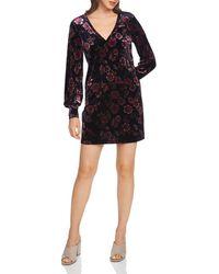 1.STATE - Gallant Garden Velvet Floral Shift Dress - Lyst