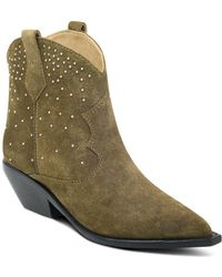 81010267793c Lyst - Sam Edelman Booties Mariel High Heel with Fringe Back in Natural