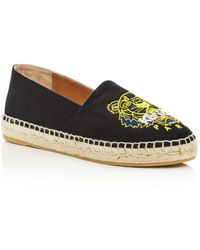 KENZO - Women's Classic Tiger Embroidered Espadrille Flats - Lyst