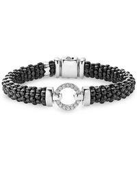 Lagos - Black Caviar Ceramic Bracelet - Lyst