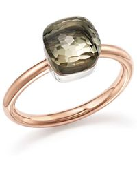 Pomellato | Nudo Mini Ring With Faceted Prasiolite In 18k Rose And White Gold | Lyst