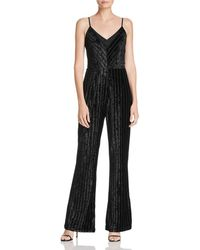 Adelyn Rae - Burnout Velvet Jumpsuit - Lyst