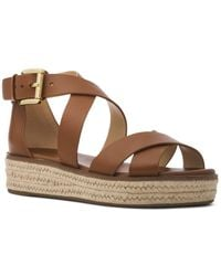 86bcaef9934c MICHAEL Michael Kors - Women s Darby Leather Espadrille Sandals - Lyst