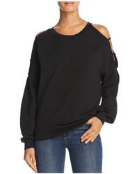Project Social T - As If Strappy Cold-shoulder Sweatshirt - Lyst