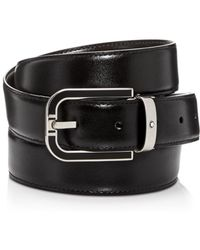 89a038e1698 Montblanc - Men s Horseshoe Buckle Reversible Leather Belt - Lyst