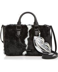 Kendall + Kylie | Claire Leather & Faux Fur Satchel | Lyst