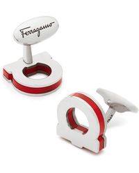 Ferragamo - Single Gancini Pop Colour Cufflinks - Lyst
