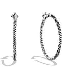 David Yurman - Cable Classics Large Hoop Earrings - Lyst