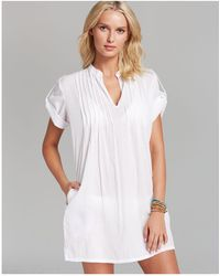 Ralph Lauren - Lauren Crushed Cotton Darcy Swim Cover-up Tunic - Lyst