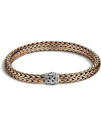 John Hardy - Men's Classic Chain Silver And Bronze Medium Chain Bracelet - Lyst