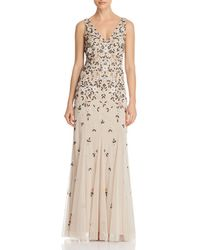 Adrianna Papell - Embellished Godet Gown - Lyst
