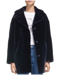 Whistles - Yara Faux-fur Cocoon Coat - Lyst