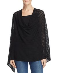 Minnie Rose - Pointelle Poncho - Lyst