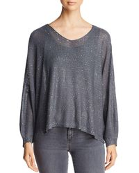 Sioni - Crisscross Sequined Sweater - Lyst
