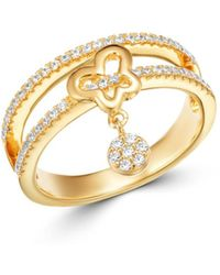 c6ec4c67f Gucci Sterling Silver Trademark Butterfly Ring - Size 7.25 in ...