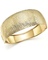 Bloomingdale's - 14k Yellow Gold Domed Hinge Bangle - Lyst