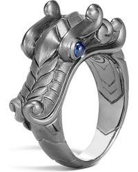 John Hardy - Black Rhodium Legends Naga Sapphire Dragon Ring - Lyst