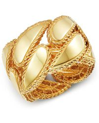 Roberto Coin - 18k Yellow Gold Gourmette Ring - Lyst