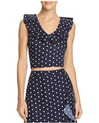 Lucy Paris | Ruffled Polka Dot Cropped Top | Lyst