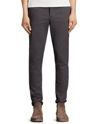 AllSaints - Park Slim Fit Chinos - Lyst