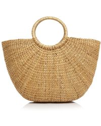 Remi & Reid - Ring Handle Straw Tote - Lyst