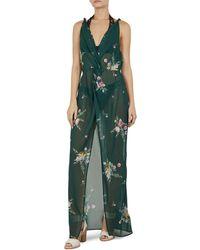 1588e49a899367 Ted Baker - Tekela Flourish Twist - Front Dress Swim Cover - Up - Lyst