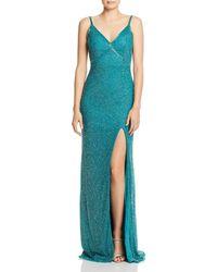 Mac Duggal - Beaded Fishtail Gown - Lyst