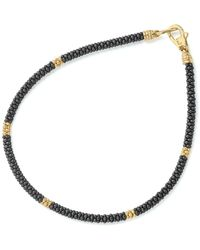 Lagos - Gold & Black Caviar Collection 18k Gold & Ceramic Rope Bracelet - Lyst
