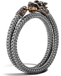 John Hardy - Men's Naga Double Wrap Dragon Cord Bracelet - Lyst