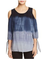 XCVI - Hadley Tie-dye Cold-shoulder Blouse - Lyst