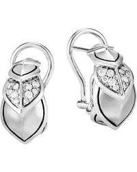 John Hardy - Sterling Silver Legends Naga Pavé Diamond Buddha Belly Earrings - Lyst