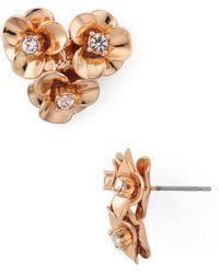 Kate Spade - Flower Cluster Stud Earrings - Lyst