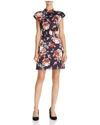 Theory | Victoria Mod Floral Print Dress | Lyst