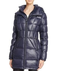 Calvin Klein - Long Hooded Down Coat - Lyst