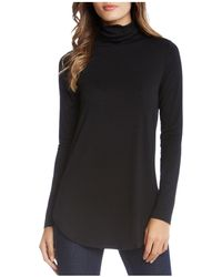 Karen Kane - Turtleneck Tunic Top - Lyst