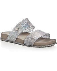 Melissa - Cosmic Metallic Glitter Two Band Slide Sandals - Lyst