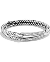 David Yurman - Labyrinth Single-loop Bracelet With Diamonds - Lyst