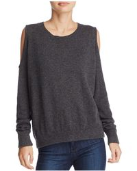 Minnie Rose   Cold-shoulder Cashmere Sweater   Lyst