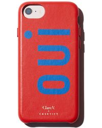 Clare V. - X Casetify Oui Leather Iphone 6/7/8 Case - Lyst