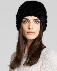 Maximilian - Maximilian Knitted Mink Hat - Lyst